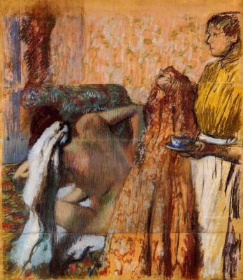 Эдгар Дега. Завтрак после ванны