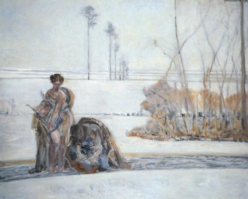 Jacek Malchevsky. Winter landscape