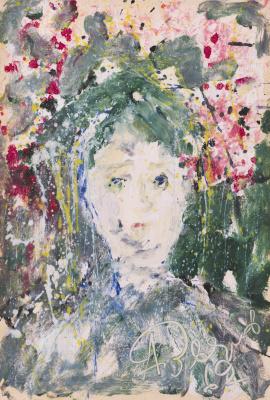 Anatoly Zverev. Green portrait