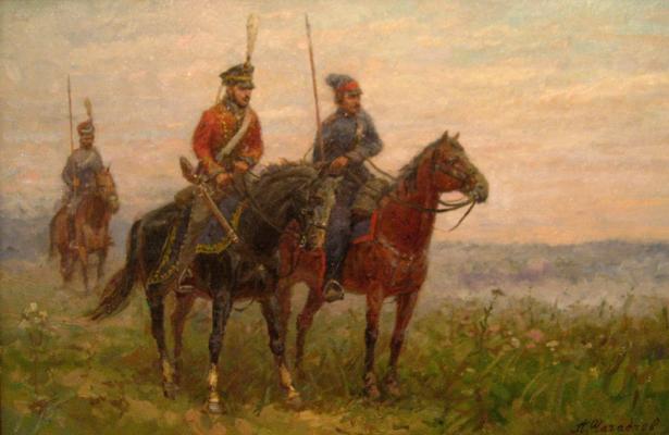 Aleksandr Chagadaev. In the cavalry patrol