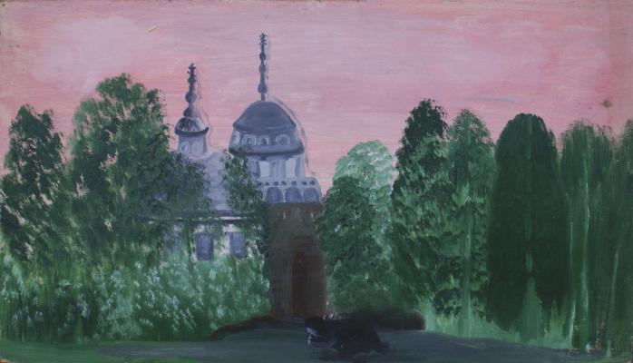 Love Mikhailovna Maikova. Nikola in Stoyantsi at sunset