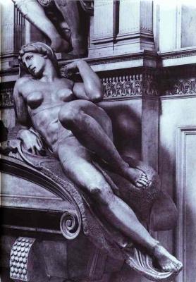 Микеланджело Буонарроти. Гробница Лоренцо Медичи