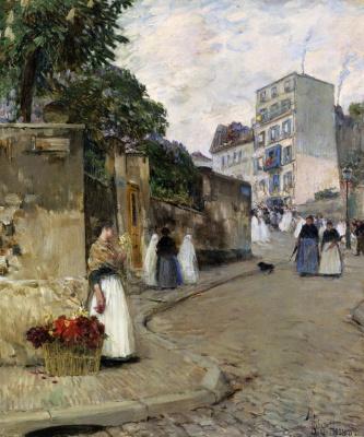 Чайльд Гассам. Монмартр, Париж