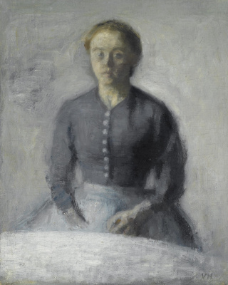 Vilhelm Hammershøi. Portrait of Ida
