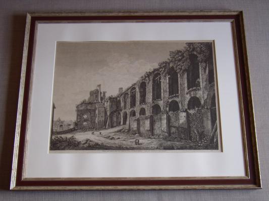 Луиджи Россини. Veduta degl'Avanzi della Casa Aurea di Nerone