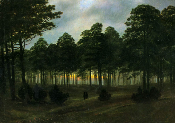 Caspar David Friedrich. Evening