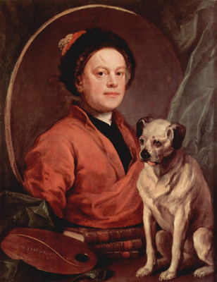 William Hogarth. Self-portrait with dog