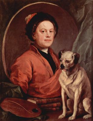 Уильям Хогарт. Автопортрет с собакой