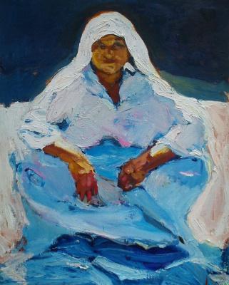 Renat Ramazanov. Grandma in white dress