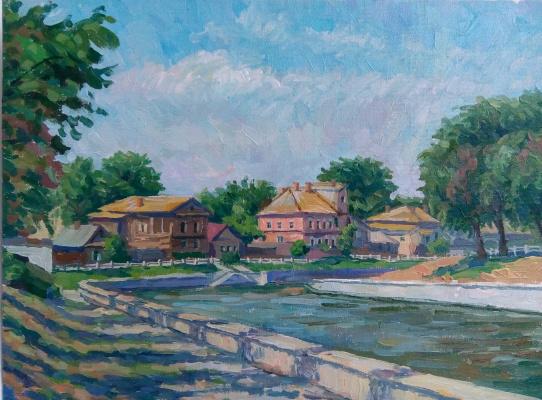 Yuri Davydov. Quay May 1 in Astrakhan