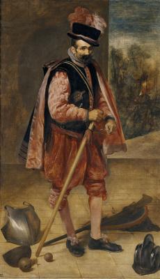 "Diego Velazquez. Jester, nicknamed ""don Juan Austrian"""