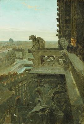 Winslow Homer. Gargoyle in Notre Dame