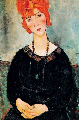 Amedeo Modigliani. Woman with long beads