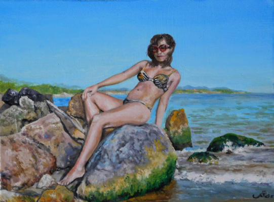 "Vladimir Kimovich Vakhrushev. ""The girl on the rock"""