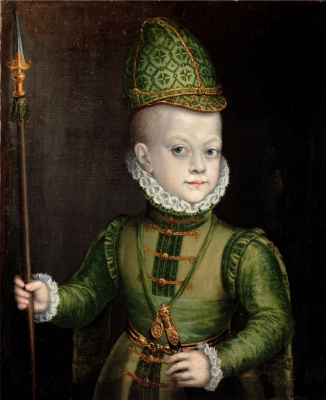 Sofonisba Angisola. Portrait of a boy dressed as a Spanish nobleman