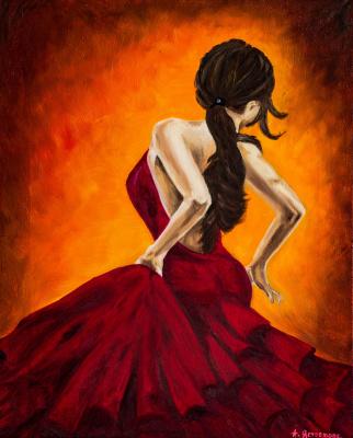 Arina Yuryevna Yastrebova. Flamenco dancer