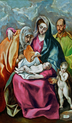 Domenico Theotokopoulos (El Greco). Holy family with Saint Anne and the young St John the Baptist