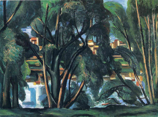 Andre Derain. The trees on the banks of the Seine