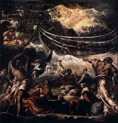 Jacopo (Robusti) Tintoretto. The Miracle of Manna