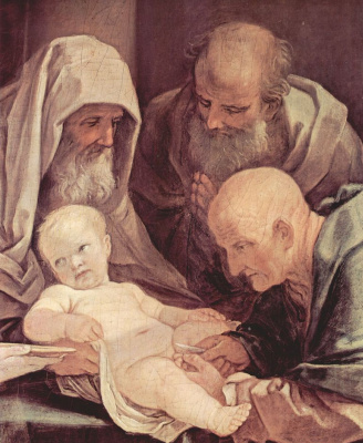 Guido Reni. The circumcision of Christ, detail