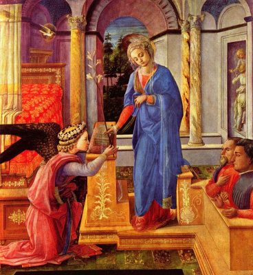 Fra Filippo Lippi. The Annunciation with donors