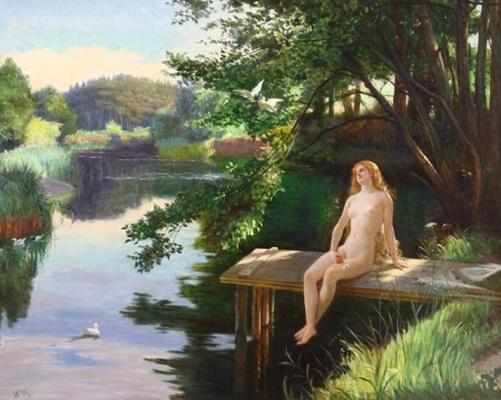 Wilhelm Kotarbinsky. Nude on the lake