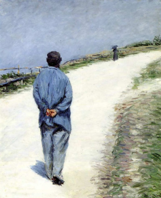 Gustave Caillebotte. Dad Malar on the road of Saint-Clair in Etretat