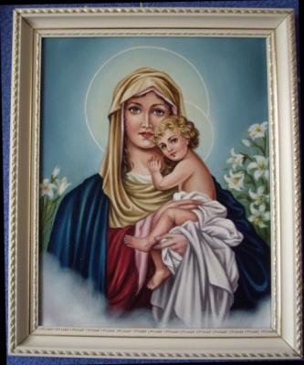 Ядвига Сенько. Virgin Mary with Jesus (canvas,oil)