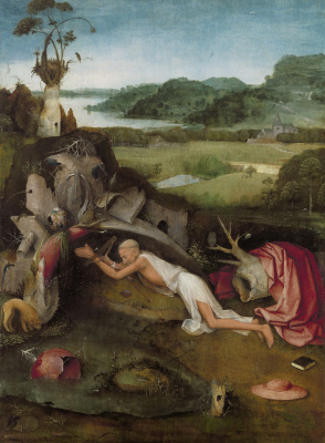 Hieronymus Bosch. Saint Jerome at prayer