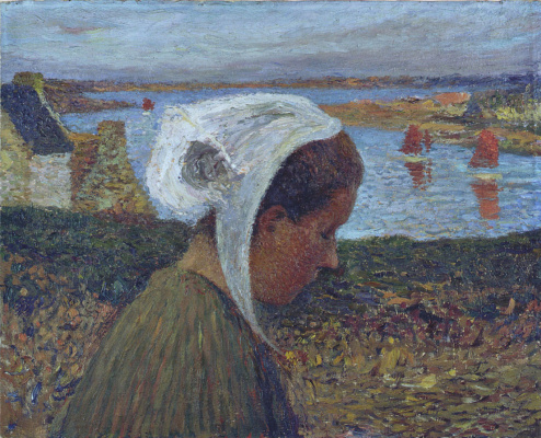 Henri Martin. Young girl