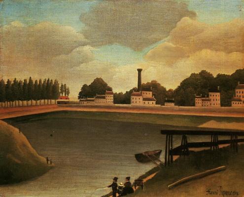 Henri Rousseau. Family fishing