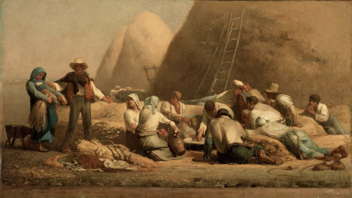 Jean-François Millet. Harvest pickers rest
