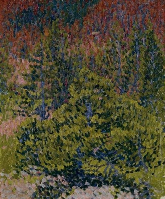 Giovanni Giacometti. Autumn landscape in the mountains