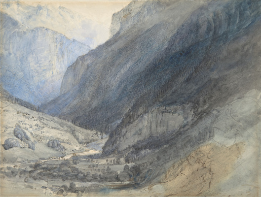John Ruskin. Lauterbrunnen Valley, Switzerland