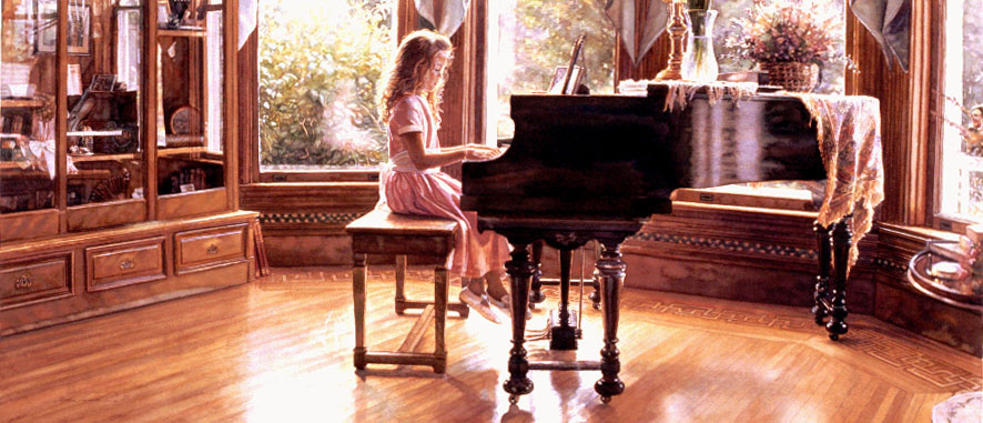 Steve Hanks. Music room