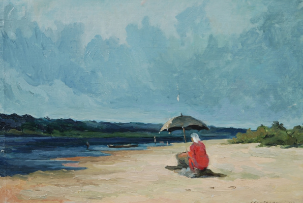 Grigory Alexandrovich Sretensky. On The Oka River. 1953 65x45