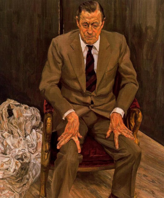 Lucien Freud. The man in the chair