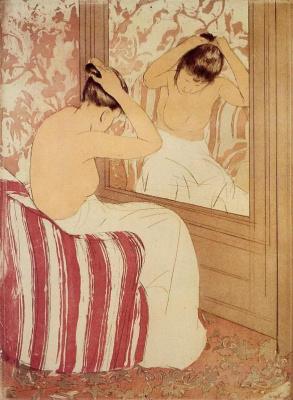 Mary Cassatt. Hairstyle