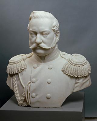 Peter Karlovich Klodt von Jurgensburg. Portrait of General Yakov Ivanovich Rostovtsev