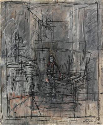 Alberto Giacometti. Isabelle in the Studio