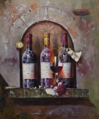 Savely Kamsky. Wine Still Life N3