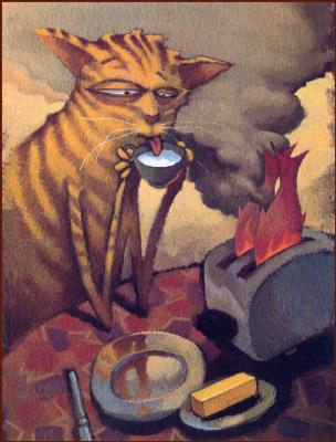 Скотт Мак. Кот пьет молоко