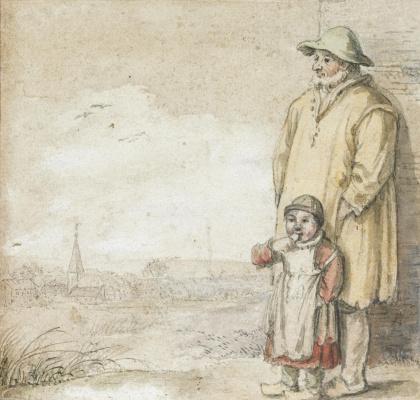 Хендрик Аверкамп. Мужчина с ребенком