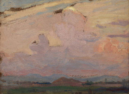 Jan Stanislavsky. Landscape with clouds. Tynets