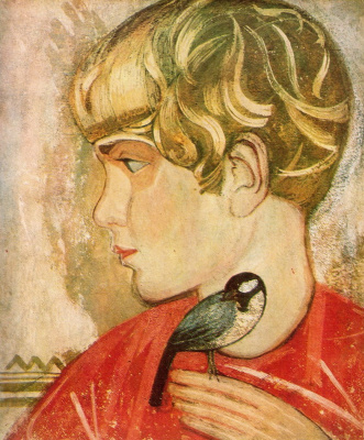 Fedor Grigorievich Krichevsky. Boy with a bird. Roman Krichevsky, son of the artist