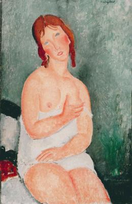 Amedeo Modigliani. Girl in a chemise