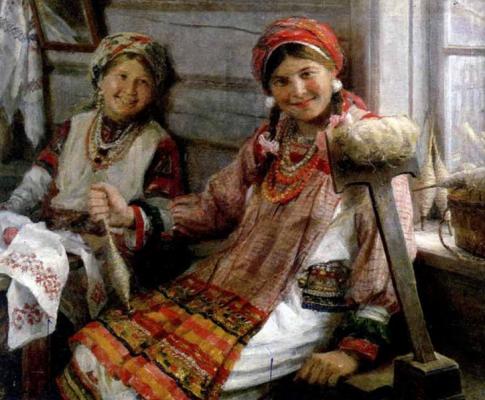 Fedor Vasilyevich Sychkov. At work. Girlfriends. 1935