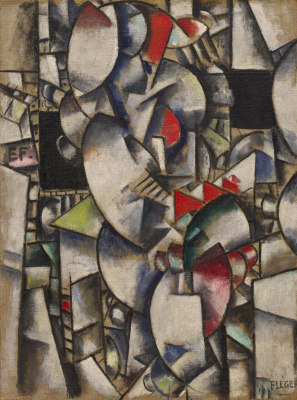 Fernand Leger. Nude model in Studio
