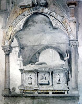 John Ruskin. Sarcophagus of the tomb of Mastino della Scala, Verona