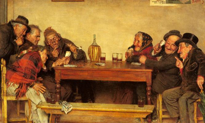 Гаэтано Беллеи. Игра в карты